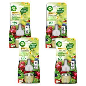 Air Wick Electrical Deszczowa Świeżość Lasów Amazonii Odświeżacz 4 x 19ml Wkład