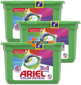 Ariel Color Kapsułki do Prania Kolor 3 x 16szt BE