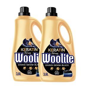 Woolite Darks Denim Black Płyn do Prania Ciemnego 120pr 2 x 3,6L