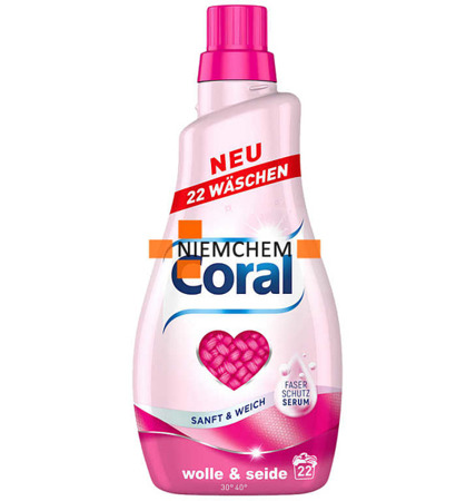 Coral Wolle Seide Wełna i Jedwab Żel Prania 22pr 1,1L DE