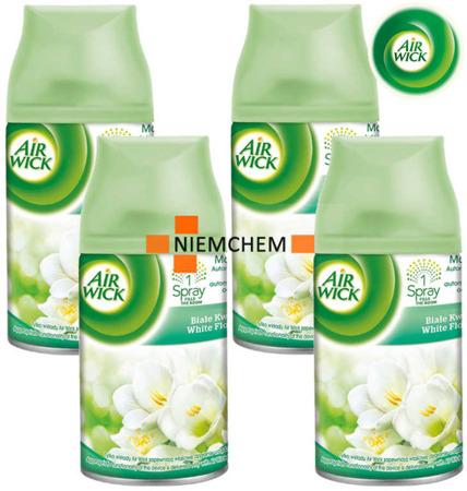 Air Wick Freshmatic Białe Kwiaty Odświeżacz 4 x 250ml Wkład