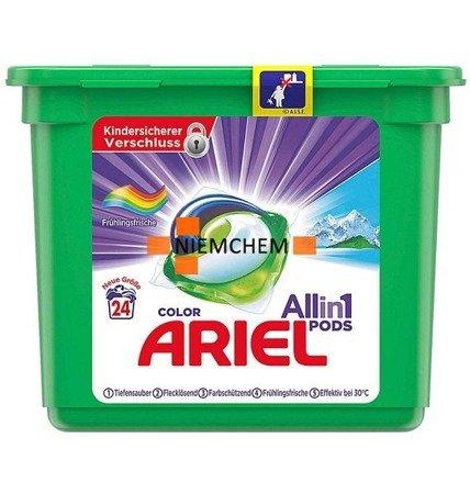 Ariel All-in-1 Color Frühlingsfrische Kapsułki do Prania 24szt DE