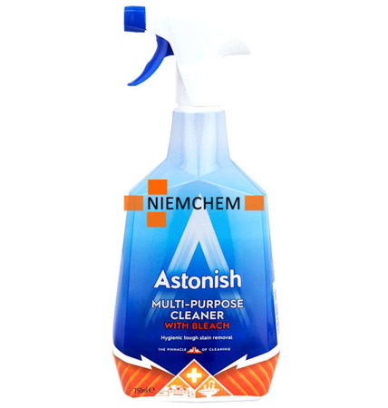 Astonish Multi-Purpose Cleaner with Bleach Spray Czyszczący z Wybielaczem 750ml UK