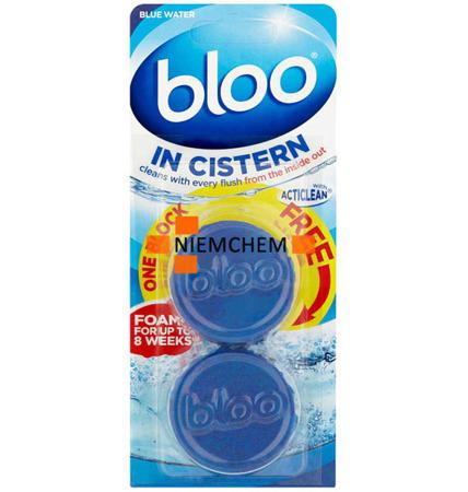 Bloo Blue Niebieska Woda Kostki Barwiące do WC 2szt UK