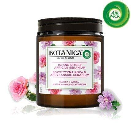 Botanica by Air Wick Egzotyczna Róża & Afrykańskie Geranium Świeczka 205g