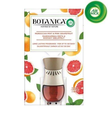 Botanica by Air Wick Electric Odświeżacz Powietrza Marokańska Mięta & Różowy Grejpfrut Komplet