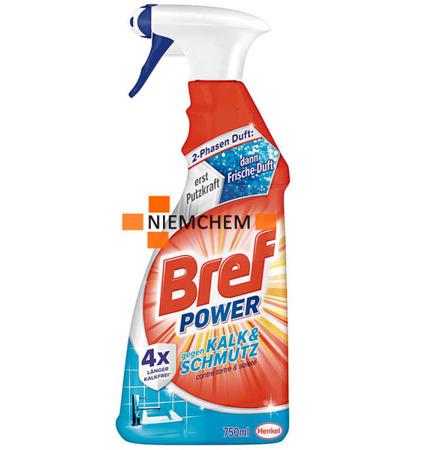 Bref Kalk do Czyszczenia Łazienki, Prysznica na Kamień 750ml Spray DE