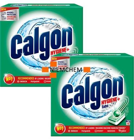 Calgon Hygiene+ Plus Tabletki Odkamieniacz do Pralki 2 x 15szt
