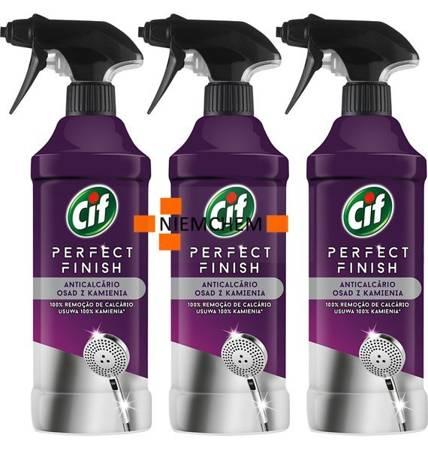 Cif Perfect Finish do Usuwania Kamienia z Łazienki Spray 3 x 435ml