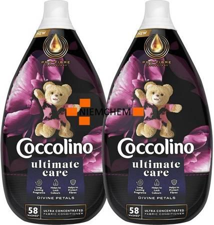 Coccolino Ultimate Care Divine Petals Płyn do Płukania 116pr 2 x 870ml.