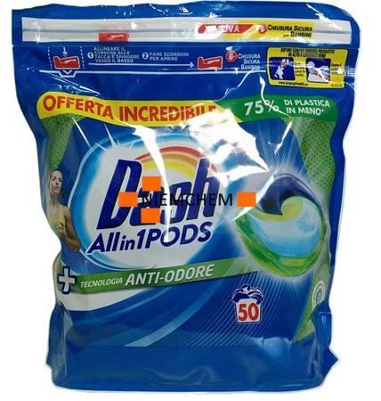 Dash All-in-1  Pods Anti-Odore Kapsułki do Prania 50szt IT WYPRZEDAŻ