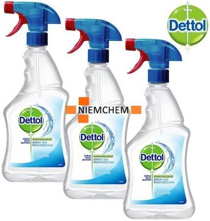 Dettol Antybakteryjny Spray Powierzchni 3 x 500ml