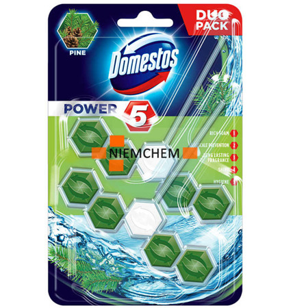 Domestos Duo Power 5 Pine Zawieszka do WC 2szt