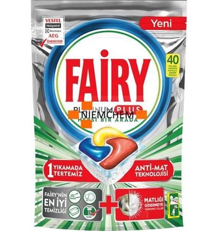 Fairy Platinum Plus Limon Tabletki do Zmywarki 40szt TR