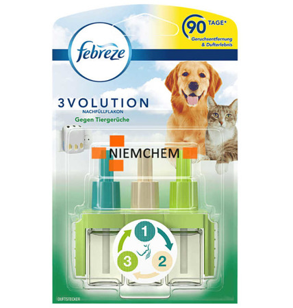 Febreze Ambi Pur 3Volution Animals Świeży Wkład 90 Dni DE
