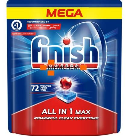 Finish All in 1 Max Tabletki do Zmywarki 72szt Regular