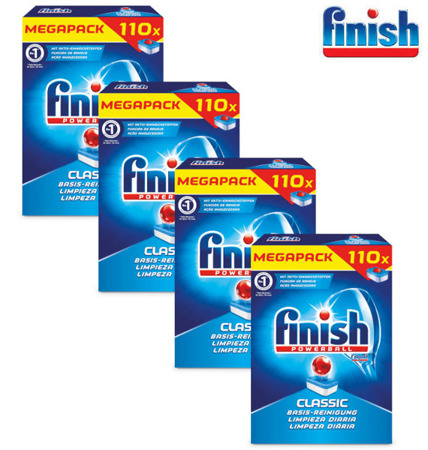 Finish Classic Tabletki do Zmywarki 4 x 110= 440szt DE