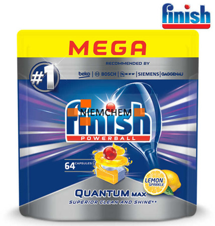 Finish Quantum MAX Lemon Tabletki do Zmywarki 64szt