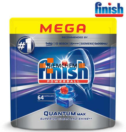 Finish Quantum MAX Regular Tabletki do Zmywarki 64szt