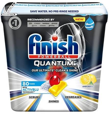 Finish Quantum Ultimate ActivBlu Lemon Kapsułki do Zmywarki 80szt