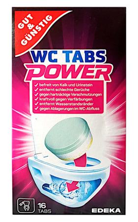 G&G WC Tabs Power Tabletki do Czyszczenia WC 16szt DE