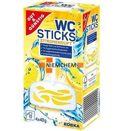G&G Wc Sticks Lemon Zawieszka do WC 4 sztuki DE