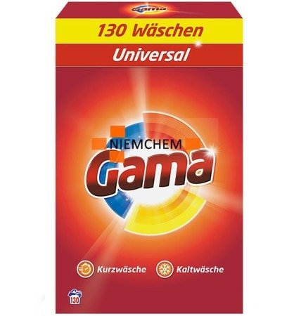 Gama (Vizir) 3w1 Proszek do Prania 130pr 8,45kg XXXL DE