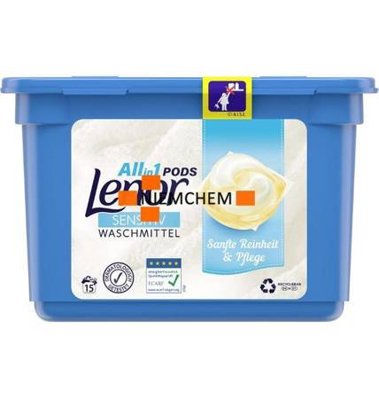 Lenor All-in1 Sensitiv Kapsułki do Prania 15szt DE