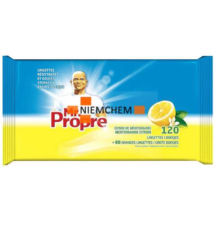 Proper Uniwersalne Chusteczki Czyszczące Lemon 120 sztuk BE