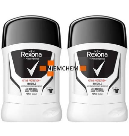 Rexona Men Active Inv Antyperspirant Sztyft 50m x2