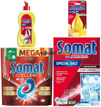 Somat Excellence Zestaw Tabletki do Zmywarki 51szt