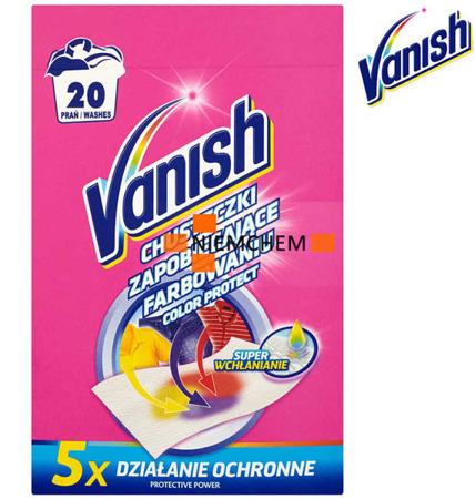Vanish Chusteczki Wyłapujące Kolory z Prania 20pr