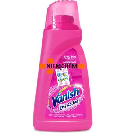 Vanish Oxi Action Pink Odplamiacz do Koloru Płyn 1,5L PL