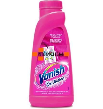 Vanish Oxi Action Pink Odplamiacz do Koloru Płyn 500ml PL