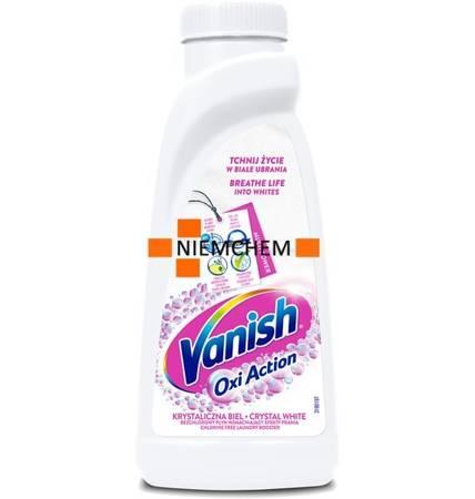 Vanish Oxi Action White Odplamiacz do Białego Płyn 500ml PL