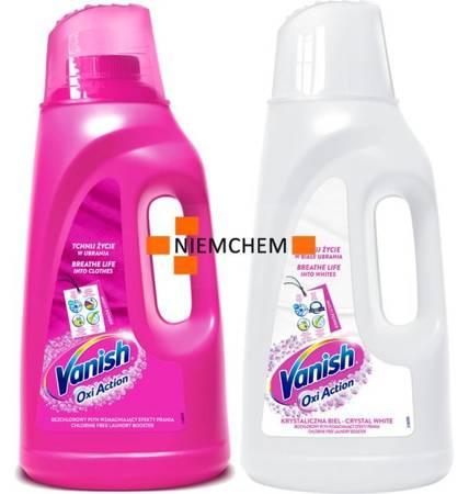 Vanish Oxi do Tkanin Kolorowych i Białych Płyn 4L XL