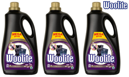 Woolite Dark Denim Black Płyn do Prania Ciemnego Jeans'u 180pr 3 x 3,6L